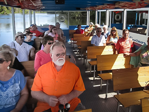 JOYFOL group on a boat